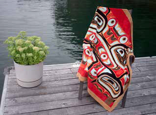 Haida Bentwood Box Velura Throw by Edenshaw©