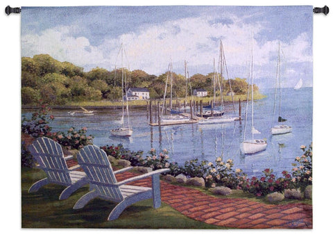 Harborside Reflection Wall Tapestry by Carol Saxe©