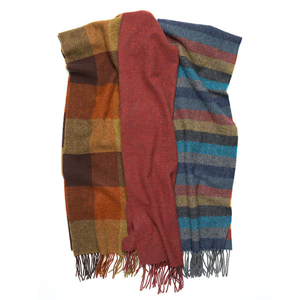 100% Lambswool Irish Scarf - Hawthorne Hill Stripe -   - 2