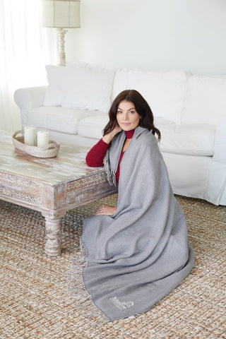 Gray Herringbone Throw Blanket|Decorating Options