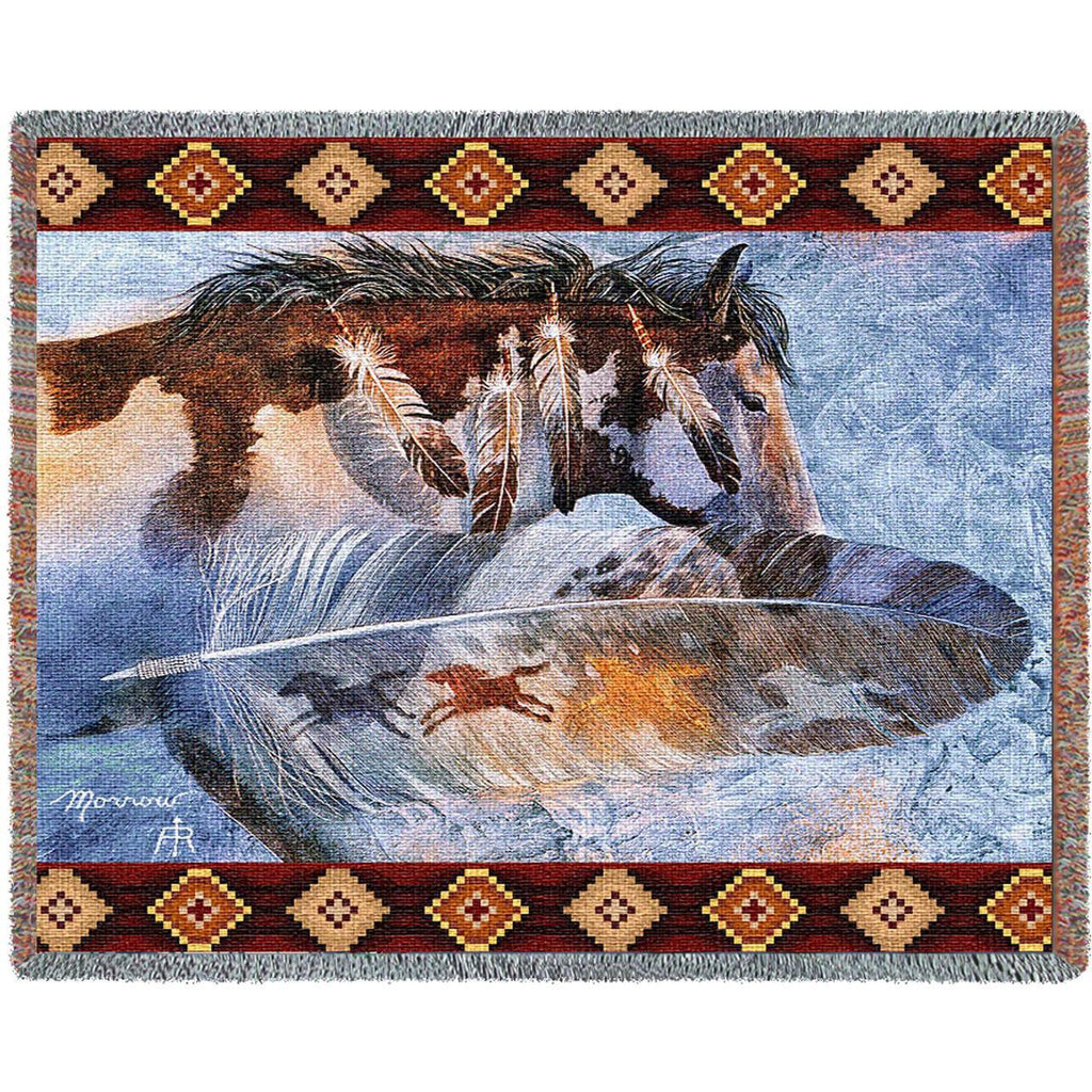 Horse Feathers Woven Throw Blanket -