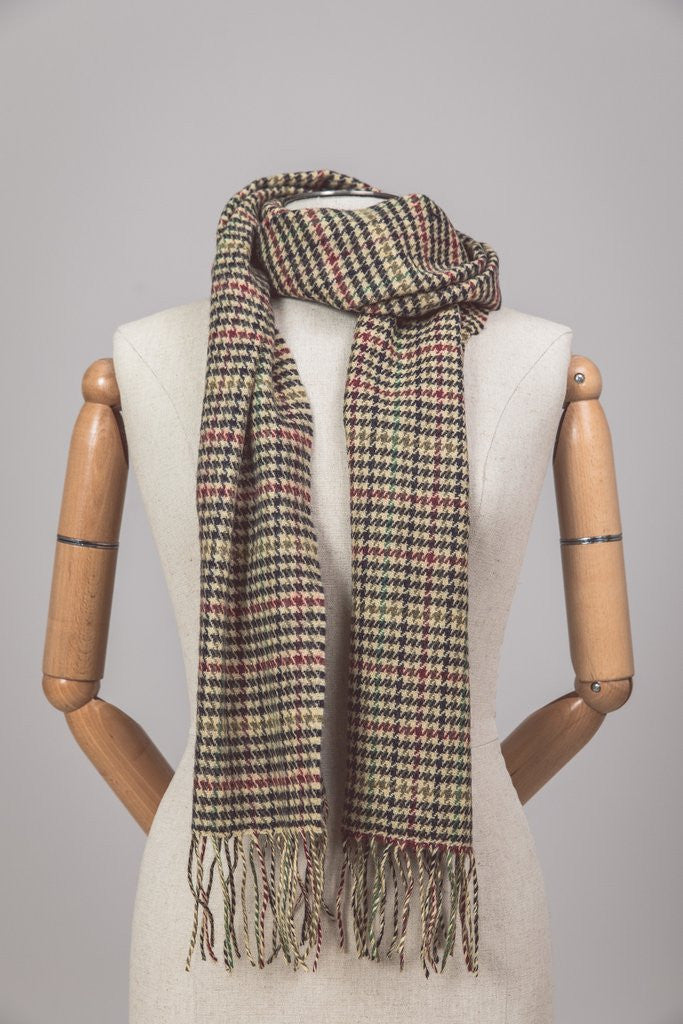 Foxford Lambswool Scarf - Stonehall Houndstooth - Ireland