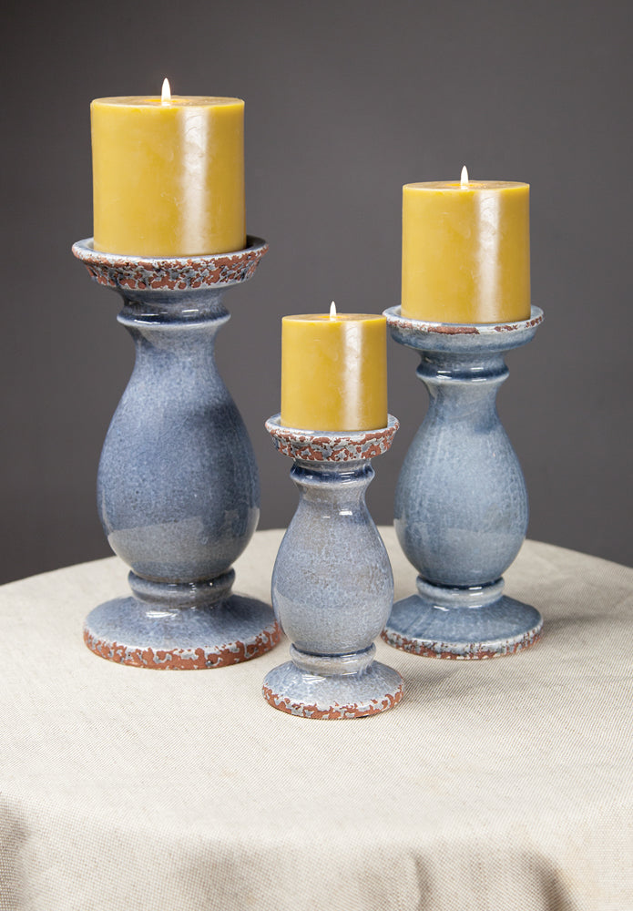 Slate Ceramic Candle Holders|Set of 2 Small