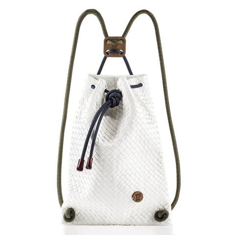 IF Backpack White Woven - Italy