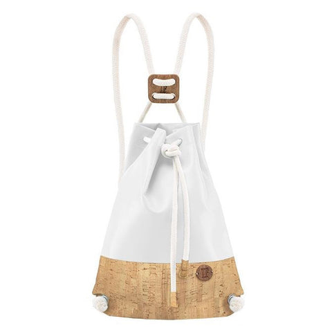 IF Double Backpack White and Cork - Italy