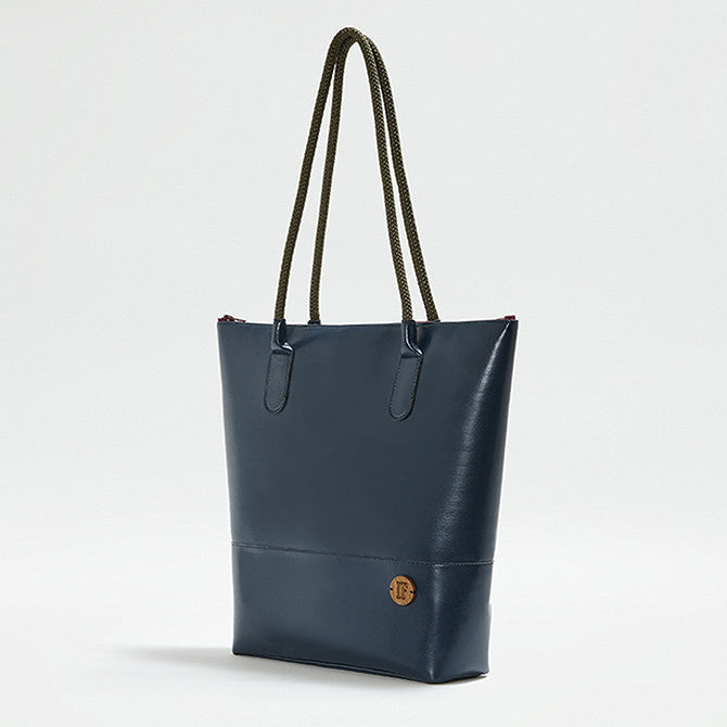 IF Tote Bag Navy|Vegan Leather - Italy