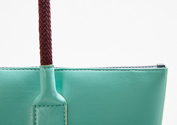 IF Tote Bag Aqua|Vegan Leather - Italy