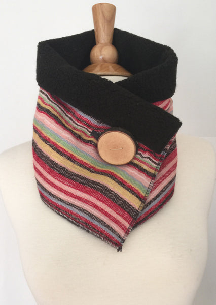 Candy Stripe UpCycled Neckwarmer One-of-a-Kind -   - 4