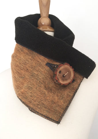 Rustic Ochre UpCycled Neckwarmer One-of-a-Kind -   - 1