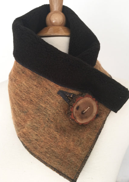 Rustic Ochre UpCycled Neckwarmer One-of-a-Kind -   - 2
