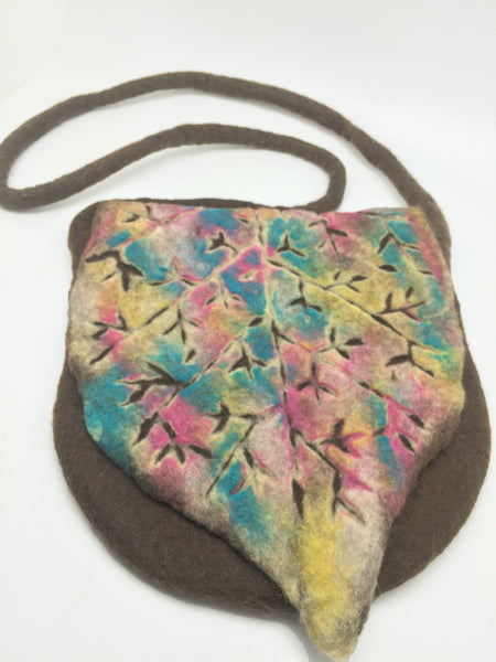 Handmade Nuno Felted Wool Crossbody Bag - One-Of-A-Kind|4 Colors -   - 6
