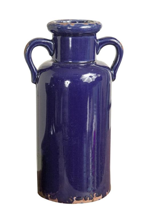 Indigo Ceramic Vessel - Tall