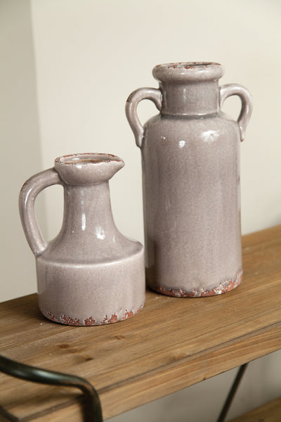 Neutral Ceramic Vessel - Tall