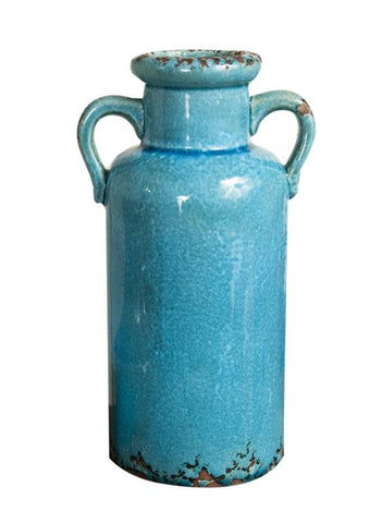 Turquoise Ceramic Vessel - Tall