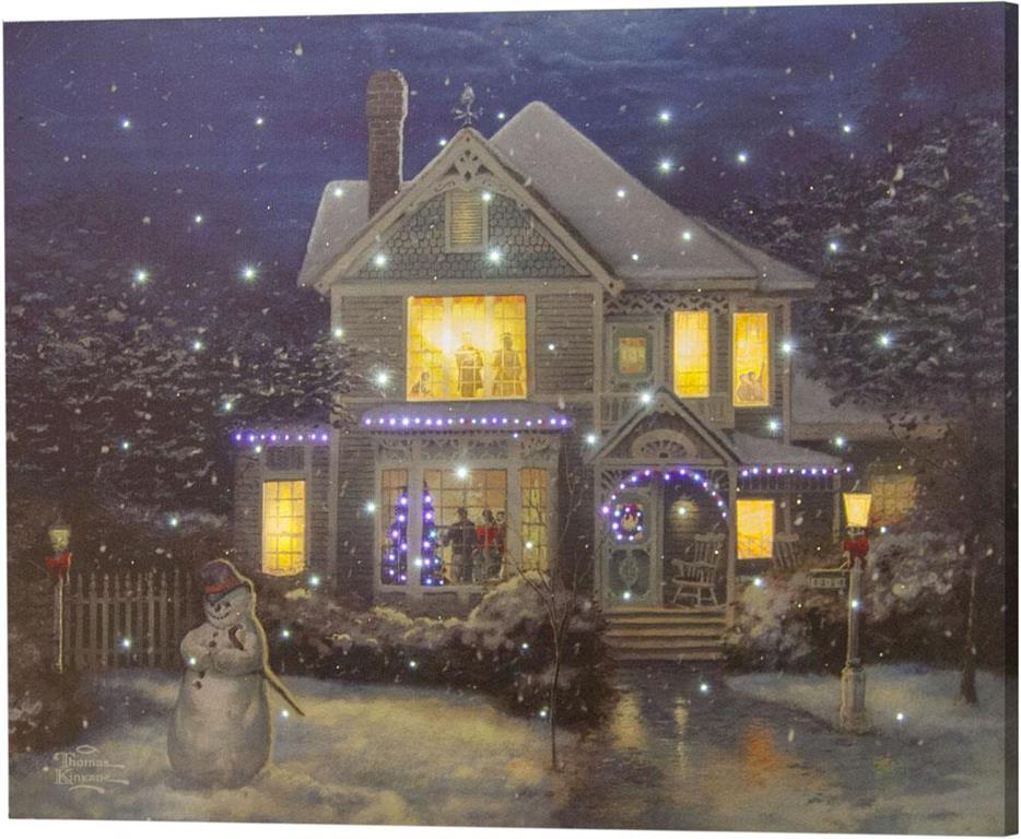 Holiday Cheer Fiber Optic Wall Canvas by Thomas Kinkade©
