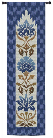Ikat Indigo Wall Tapestry by Sarah Simpson©