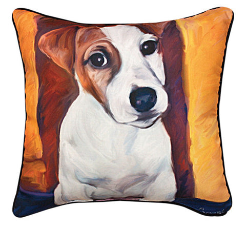 Baby Jack Russell Pillow by Robert McClintock -