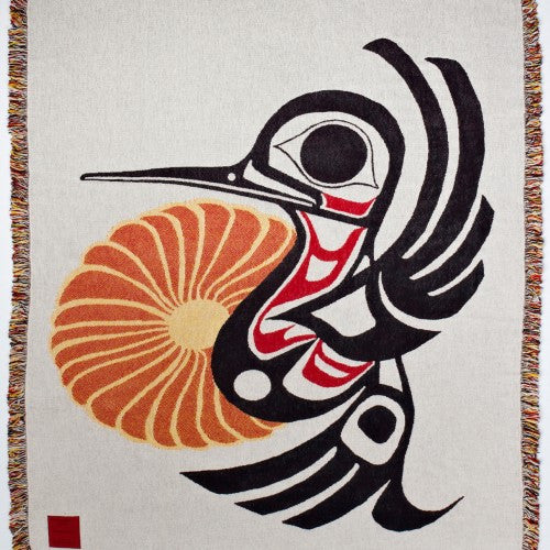 "Joe Mandur, Jr.© ""Hummingbird"" Woven Cotton Throw Blanket"