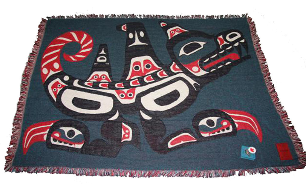 "Joe Mandur, Jr.© ""Wasgo"" Woven Cotton Throw Blanket"