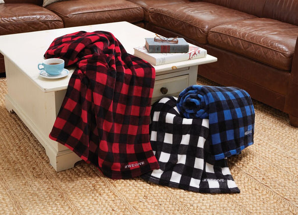 Blue-Black Buffalo Check Velura™ Cabin Throw|Decorating Option