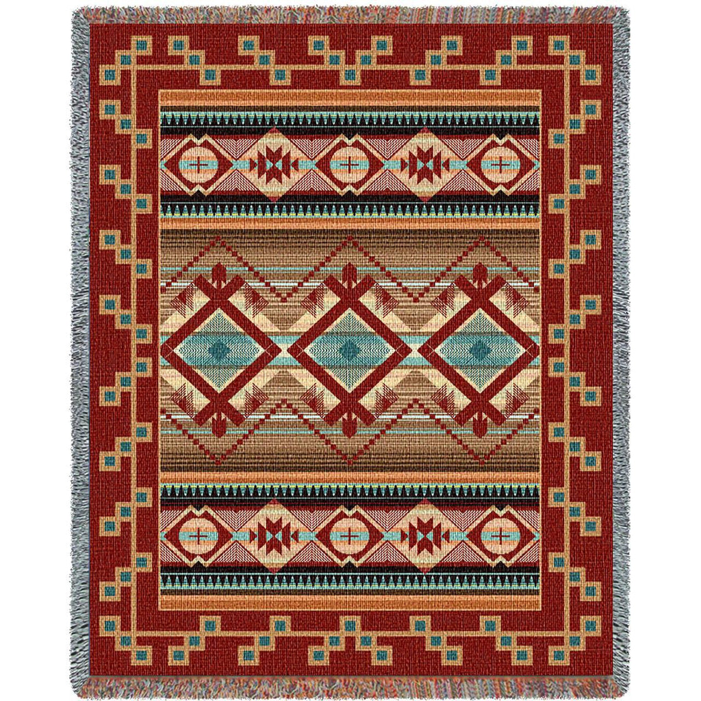 Southwest Las Cruces Chenille Woven Throw Blanket -