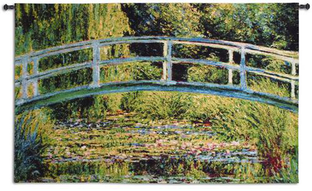Le Pont Japonais A Giverny Wall Tapestry - Claude Monet Inspired -