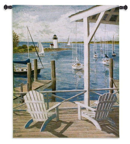 Lighthouse View Wall Tapestry
