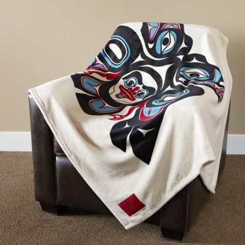 "Israel Shotridge© ""Lovebirds"" Velura™ Throw Blanket"
