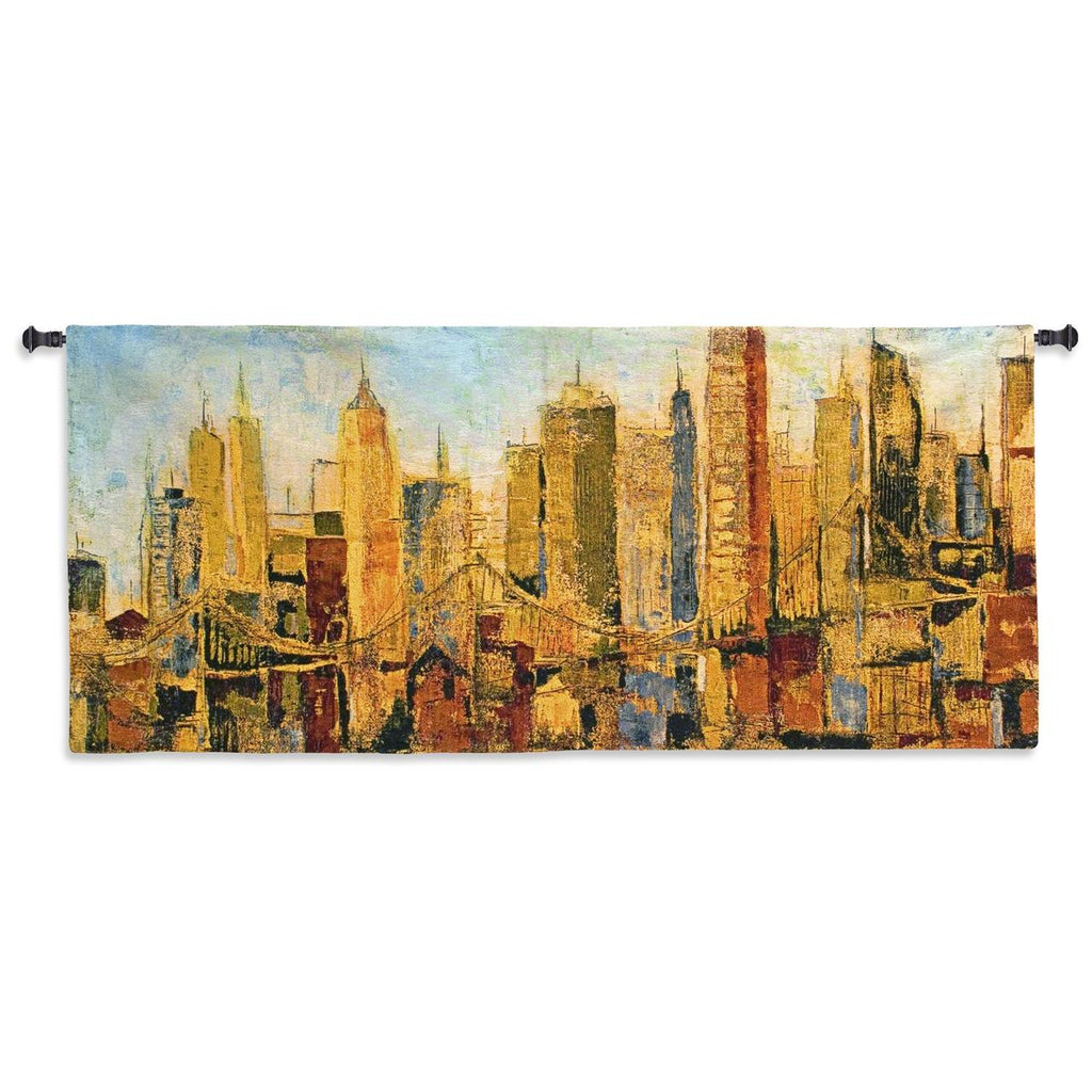 Metro Heights Wall Tapestry by Karen Dupre© - Cityscape