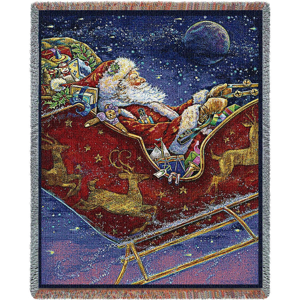 Midnight Ride Woven Throw Blanket by Donna Race© -