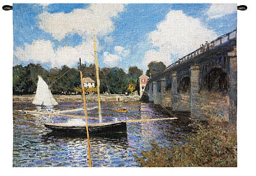 Claude Monet© The Bridge At Argenteuil Wall Tapestry -