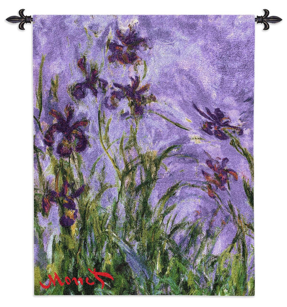 CIaude Monet© Irises Wall Tapestry