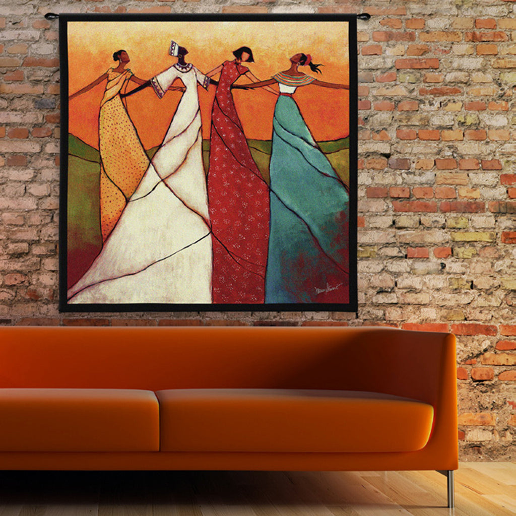 unity wall tapestry by monica stewart large