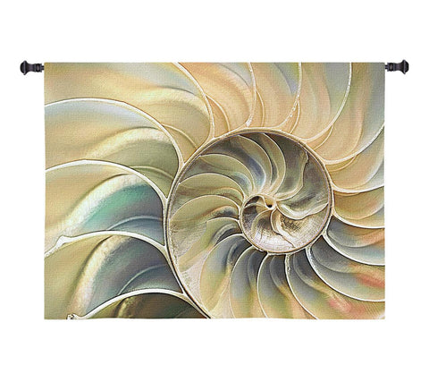 Nautilus Blue Wall Tapestry|3 Sizes