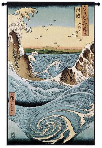 Navaho Rapids Asian Inspired Wall Tapestry by Ando Hiroshige©