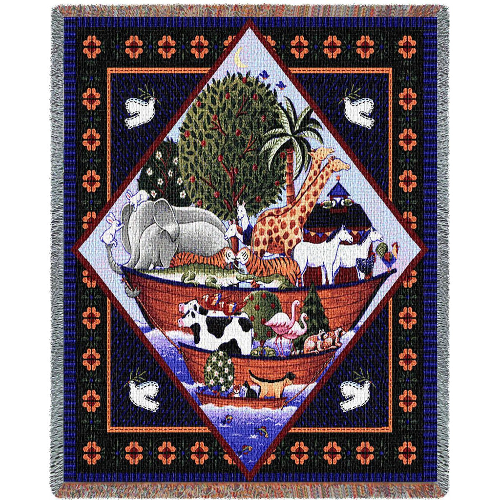 Noahs Ark Coco Woven Mini Blanket by Coco Dawley©