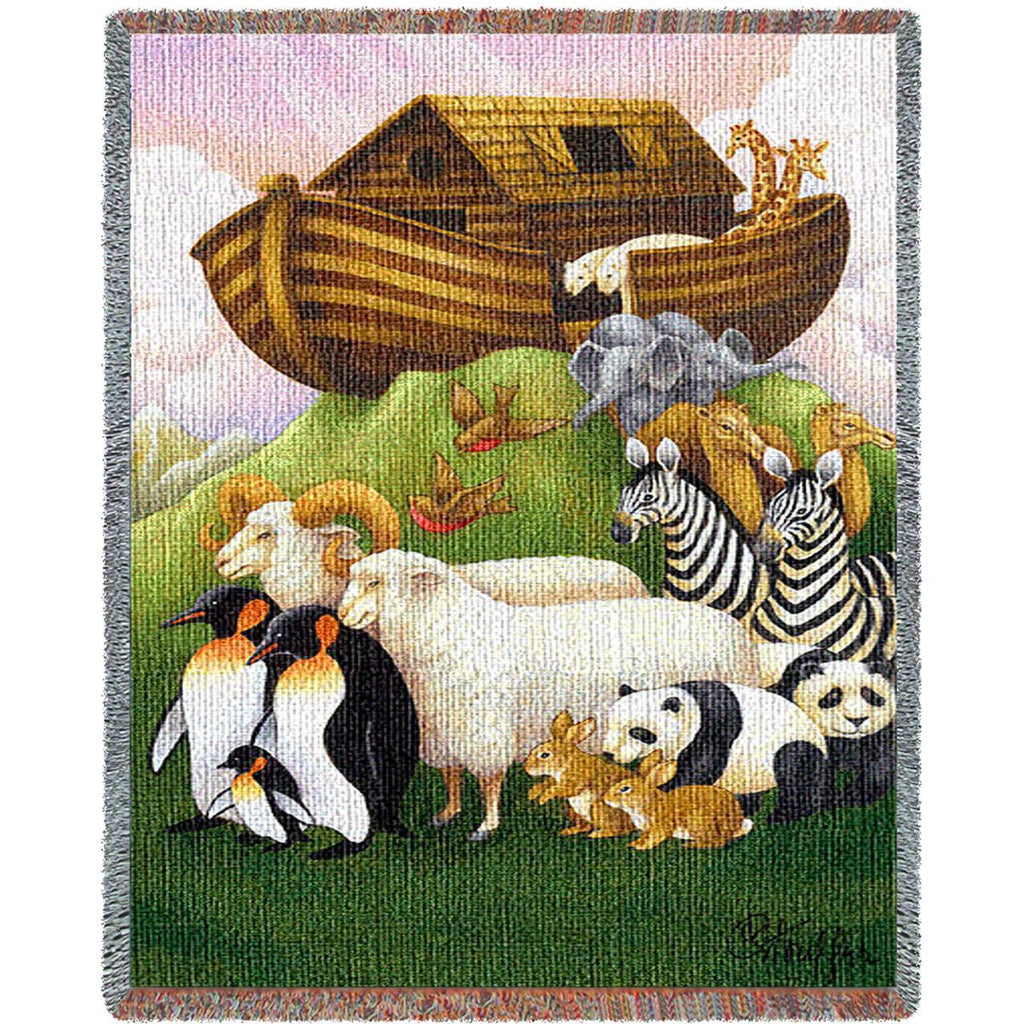 Exiting The Ark Woven Mini Blanket by Stephanie Stouffer©