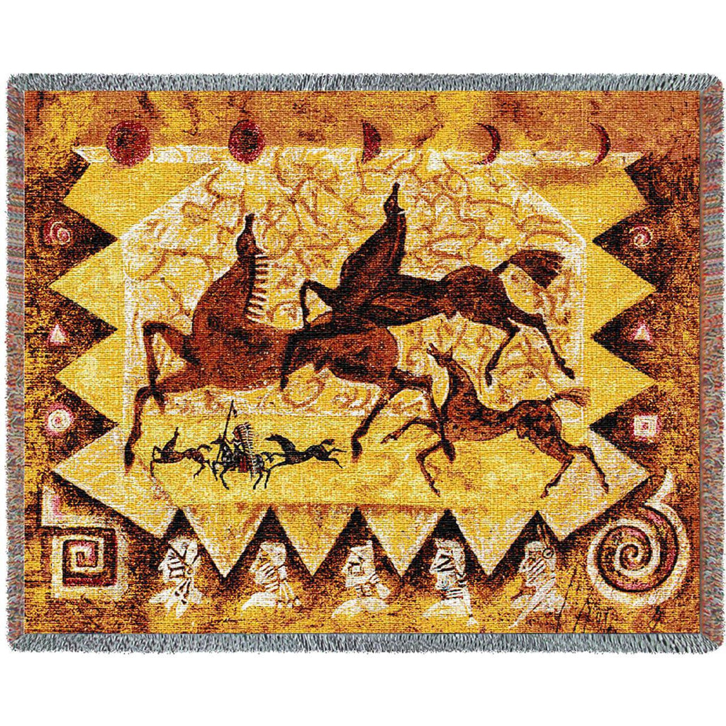 Oglalas Story Woven Throw Blanket -