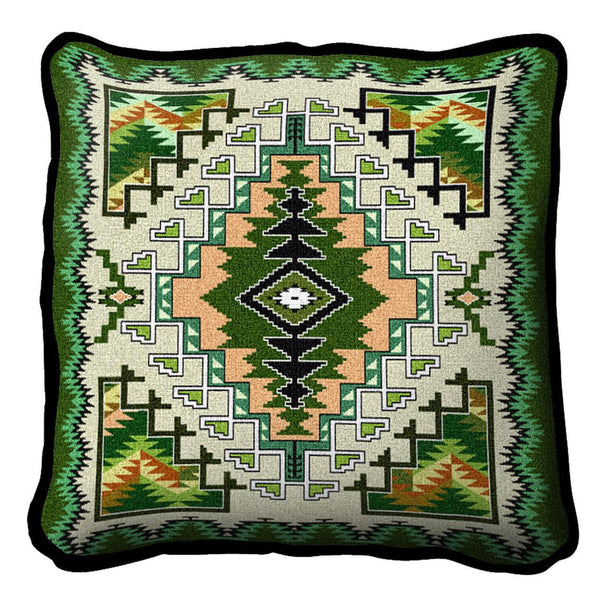 Southwest Painted Hills Sage Woven Cotton Throw