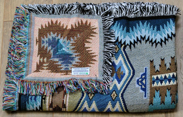 Southwest Painted Hills Sky Woven Cotton Throw Blanket