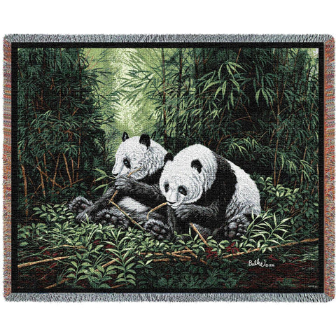 Pandas Throw Blanket by Don Balke© -