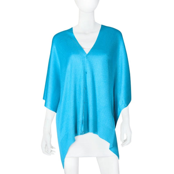 Papillon Bamboo Turquoise Scarf-Cardigan-Shawl  3 in 1