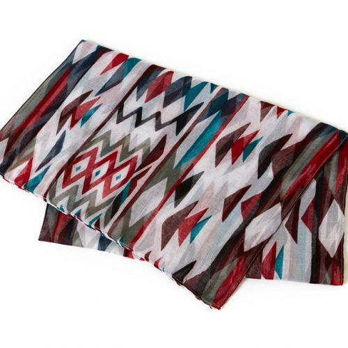 Patterns of Life Voile Scarf-Sarong by Debra Sparrow© - NW Native Tribe Artist
