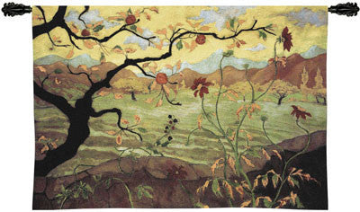 Paul Ranson© Apple Tree Asian Inspired Wall Tapestry -   - 2