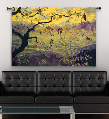Paul Ranson© Apple Tree Asian Inspired Wall Tapestry -   - 1