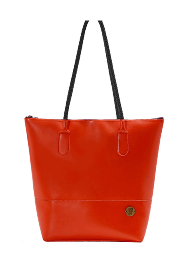 IF Tote Bag Red|Vegan Leather - Italy