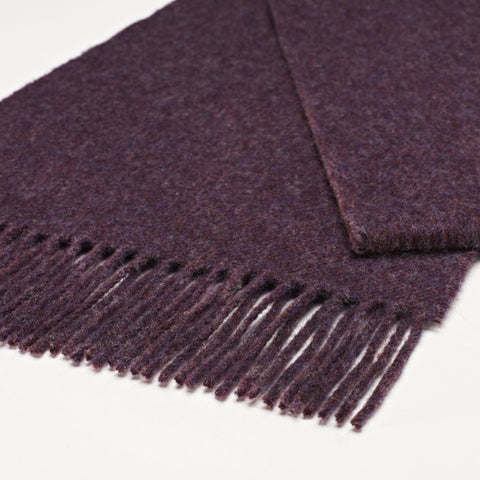 100% Merino Lambswool British Scarf - Purple Heather -