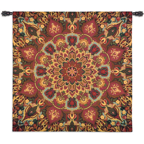 Rangoli Carmel Wall Tapestry by Julianna James©