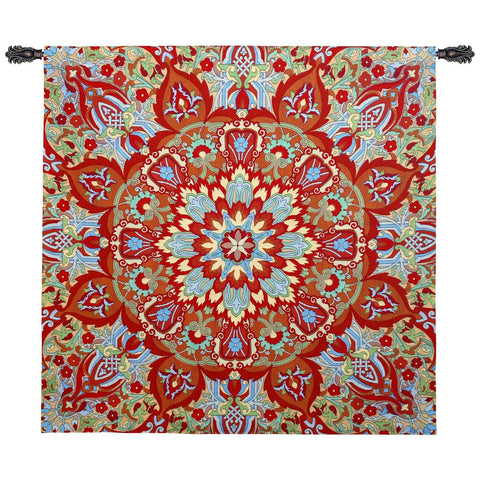Rangoli Sunrise Wall Tapestry by Julianna James©