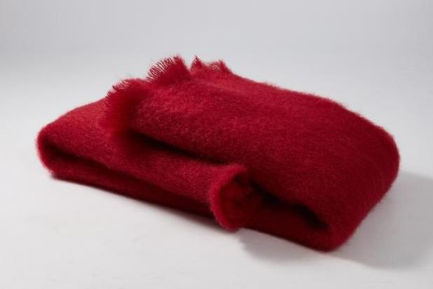 Red Mohair Scarf - Ezcaray, Spain